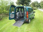 Image of a passenger van with wheelchair access